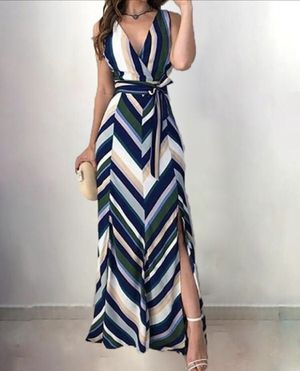 Stripes Backless Maxi Dress for Sale in Huntington Park, CA