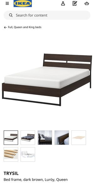 Assembled, like-new TRYSIL queen bed frame from IKEA! for Sale in St. Louis, MO