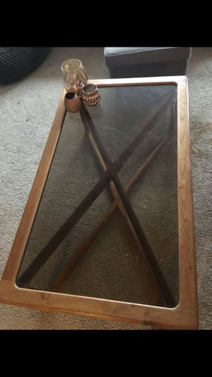 Wooden and Glass Coffee table for Sale in Denver, CO