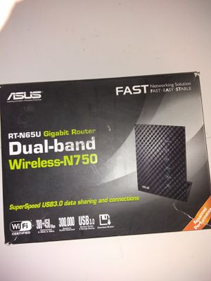 $40 firm or trade for DeWalt/Makita brushless impact; RT-n665u gigabit router dual band wireless n750, open box never used. for Sale in San Diego, CA