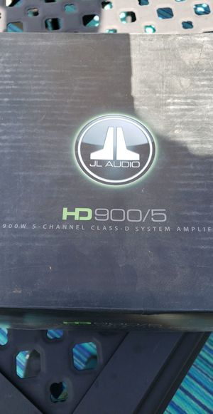 "JL Audio HD 900/5 Amplifier ""NEW"" for Sale in Littleton, CO"