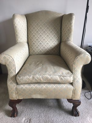 Wingback chair with fitted cover for Sale in Falls Church, VA