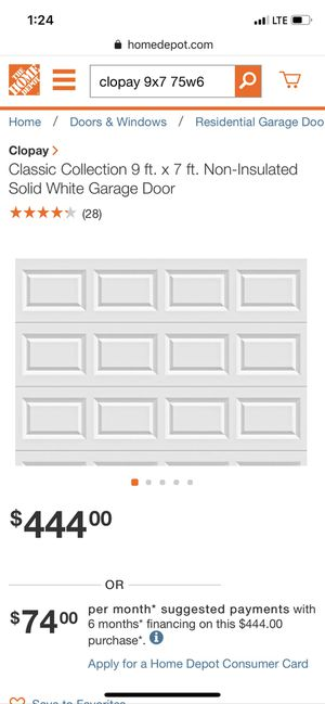 NEW White garage door NEW for Sale in TWN N CNTRY, FL