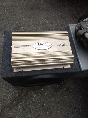 Jl audio speaker box and amplifier for Sale in Arcadia, CA
