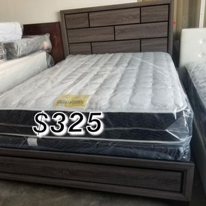 QUEEN BED FRAME AND MATTRESS for Sale in Carson, CA