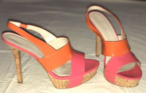 Nine West Pink & Orange Patent Size 8.5 for Sale in Delray Beach, FL