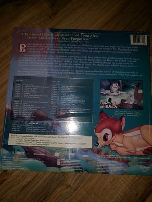 Brand new, disney bambi, laserdisc for Sale in Los Angeles, CA