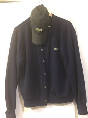 Lacoste cardigan sweater and cap for Sale in Austin, TX
