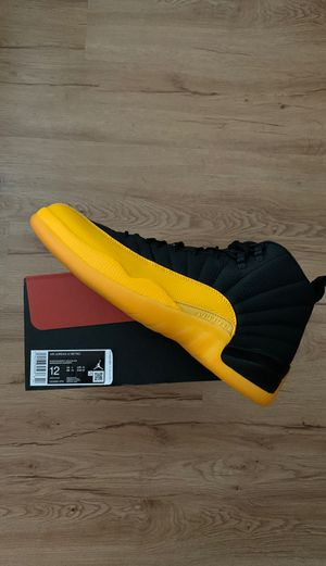 Jordan 12 retro black yellow sz 12 new with receipt for Sale in San Leandro, CA