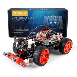 SunFounder Raspberry Pi Car DIY Robot Kit Visual Programming with Ultrasonic for Sale in Los Angeles, CA