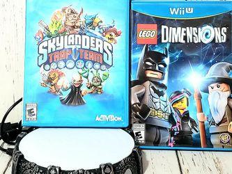 Skylanders Trap Team w/ Portal of Power + Lego Dimensions Nintendo Wii U Bundle for Sale in Harrisonburg,  VA