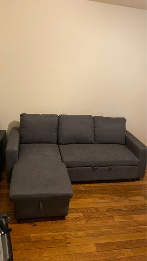 Grey Sectional - Pull Out to a Foot Rest for Sale in Capitol Heights, MD