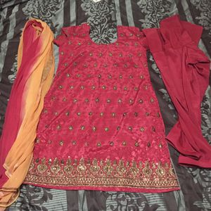 "Pakistani Indian Shalwar Kameez Dress Outfit fancy eid party wedding dress bust size 41"" large for Sale in Spencerville, MD"