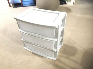 Storage shelf (Plastic) 3 Drawer for Sale in Redmond, WA