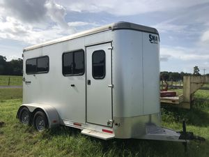 Shadow 2 horse ramp straight load bumper pull trailer for Sale in Largo, FL