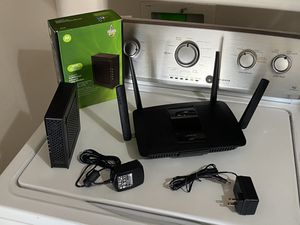 Cable internet modem router for Sale in Albuquerque, NM