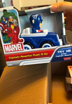 Spider man and captain America push cars for Sale in Linden,  CA