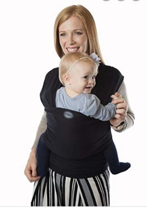 Moby Evolution Baby Wrap in Black Gently used for Sale in Glendora, CA