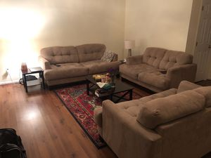 Couches & coffee table and 2 side tables for Sale in Fairfax, VA