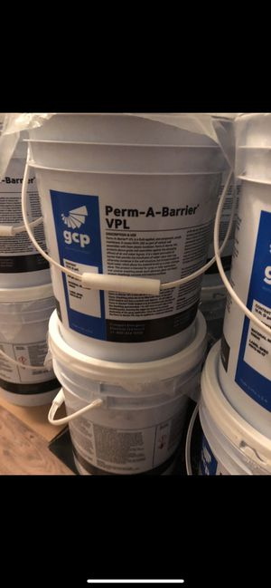 PERM A BARRIER VPL 5 GAL PAIL BRAND NEW SEALED CAN SOLD INDIVIDUALLY OR BULK for Sale in Brooklyn, NY
