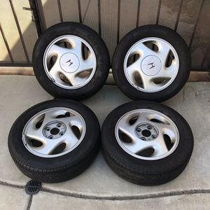 """Set of 4 1990 1991 Wheels Honda CRX Si 14""""x5"""" OEM Stock Rims Civic EF EG 88 89 SOLD AS-IS ONLY 2 CENTER CAPS, missing the other 2. 4lug for Sale in Fontana, CA"""