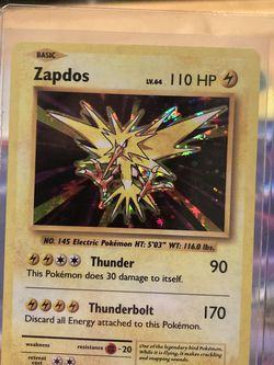 Pokemon TCG Zapdos Holo XY Evolutions (Near Mint/Mint) for Sale in Seattle,  WA