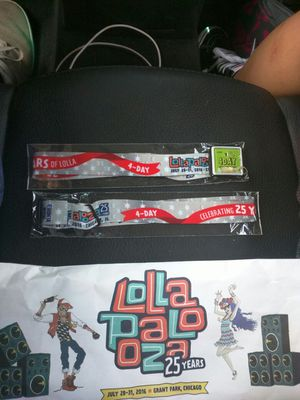 2 Lollapalooza 4 Day bands for Sale in Chicago, IL