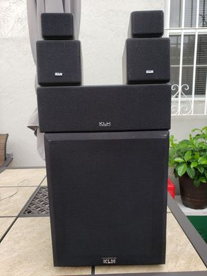 KLH Subwoofer + One center channel + Two speakers / Twitter . for Sale in Miami, FL