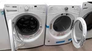 Whirlpool white front load washer and venless dryer set brand new scratch and dent for Sale in Maryland City, MD