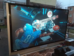 Mitsubishi 73inches DLP TV with 80GB PS3 with wireless controller and all cords and games for Sale in Washington, DC