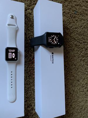 """Apple watches FS """"His and Hers"""" set. Apple Watch 3 (42mm) cellular/gps with Apple Care & series 1 (38) for Sale in San Diego, CA"""