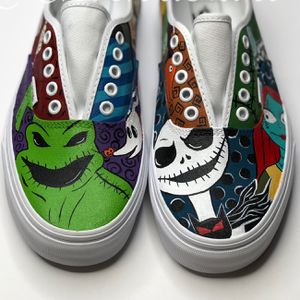 Hand Painted Shoes! Disney's Nightmare Before Christmas, Pixar's Toy Story. Inside Out, Coco, Pocahontas, Little Mermaid Ariel And More for Sale in Riverside, CA