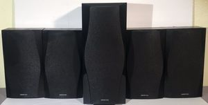 Onkyo Speakers - 1 Front SKC-560F And 4 Back SKF-560-130 W for Sale in Scottsdale, AZ