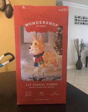NEVER USED/ OPEN BOX Wondershop Lit Tinsel Corgi Christmas decor (retails $40) $20 Firm. for Sale in HALNDLE BCH, FL