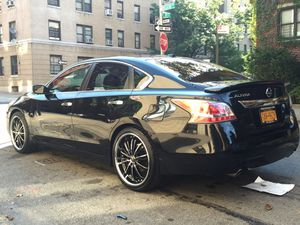 """20"""" chrome & black rims with tires for Sale in Bronx, NY"""