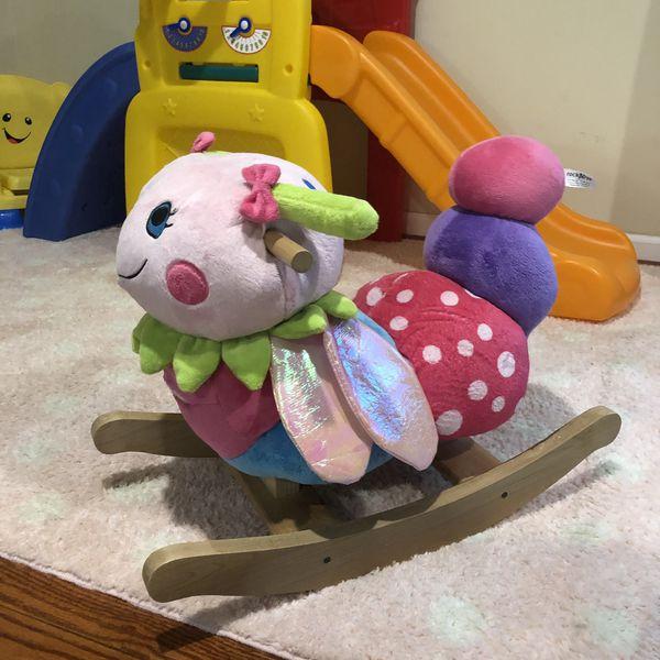 Toddler plush rocker rocking toy caterpillar