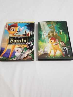 Disney's Bambi 1 and 2 platinum edition with slip cover for Sale in Miami, FL