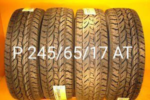 4 New tires P 245/65/17 AT llantas nuevas for Sale in Chula Vista, CA