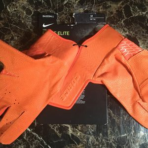 Nike Force Elite Orange Baseball Batting Gloves PGB644-844 Men Sz M for Sale in Fairfax Station, VA