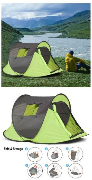 Brand new in box EZ Pop Up Easy Setup 1 to 2 People Beach Camping Tent 87x47x38 inches Waterproof includes Carrying Bag for Sale in Whittier, CA
