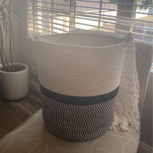 Black and White Storage Basket for Sale in Aliso Viejo, CA