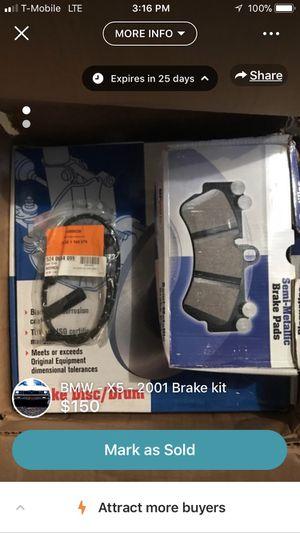 Brake hardware kit for a 2001 BMW X5 4.4L v8 for Sale in Silver Spring, MD