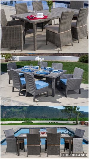 Patio dining table set sunbrella fabric for Sale in Norco, CA