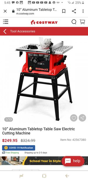 """Costaaway 10"""" saw table for Sale in Rancho Cucamonga, CA"""