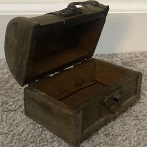 Vintage Handmade Wood Jewelry Trinket Organizer Box for Sale in Chapel Hill, NC
