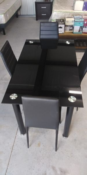 New Beautiful Black Dining Table Set On Sale for Sale in Clermont, FL