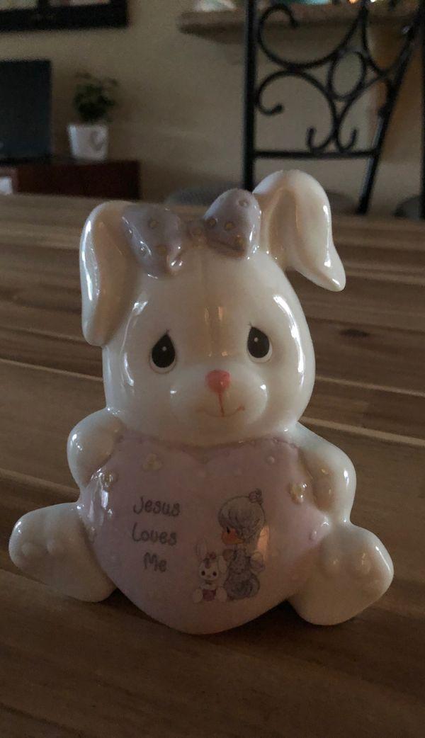 Precious moments bunny bank