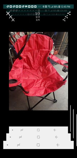 Like new Quest outdoor camping folding chair with bag red for Sale in Downey, CA