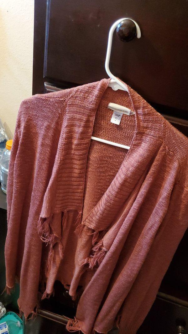 Women's Cardigan Size xL with Fringe