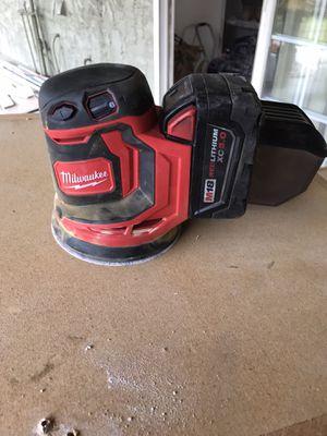 Milwaukee m18 battery sander for Sale in San Bernardino, CA